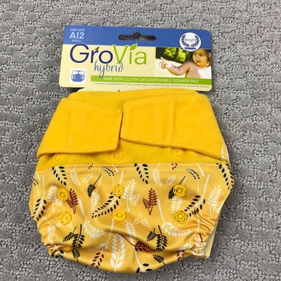 NWT Grovia sweetgrass hoop & loop cloth diaper